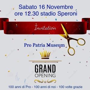 Pro Patria Museum Invito