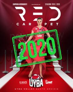 red carpet campagna abbonamenti UYBA 2020