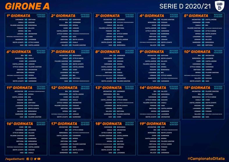 Calendario Completo Serie D 20 21 Varesesport