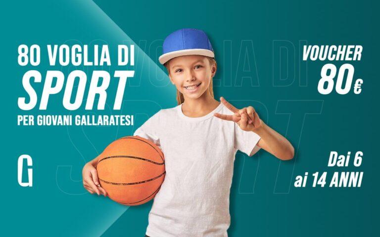 80 euro alle famiglie del Comune di Gallarate per fare sport