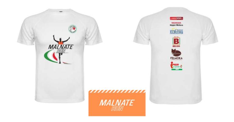 Malnate Run, una maglietta personalizzata nel pacco gara