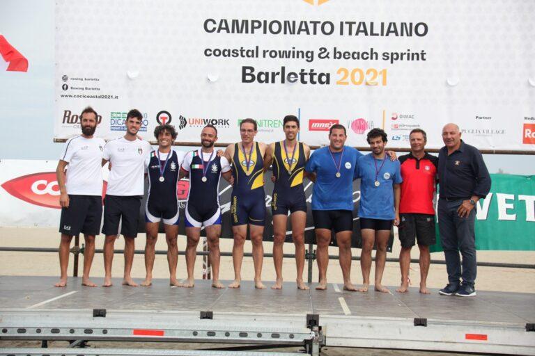 Coastal Rowing, doppia medaglia tricolore per la Canottieri Luino a Barletta