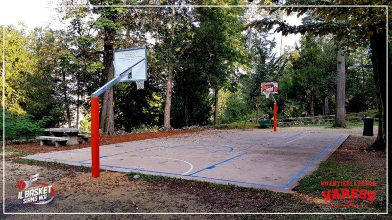 Un campetto da minibasket ai Giardini Estensi